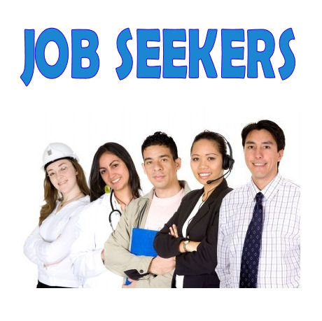 Image of a group of diverse job seekers smiling