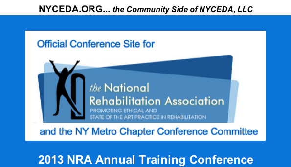 Image of the NRA logo and the text official conference site for the NRA Annual Training Conference