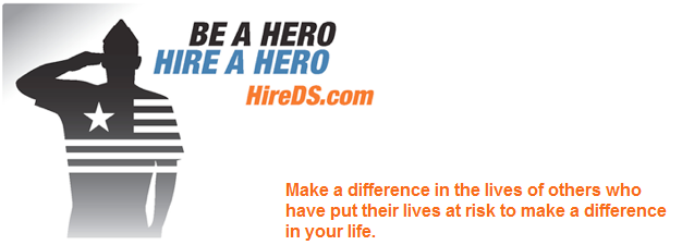 image of be a hero hire a hero logo
