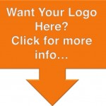 Image of an orange box with an arrow pointing down with the text want your logo here? Click for more info.