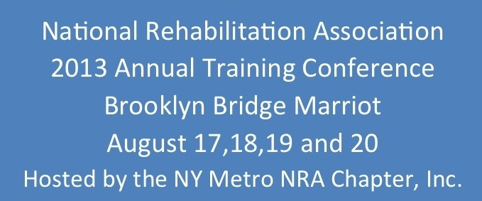 Image with the text NRA 2013 Annual Training Conference August 17, 18, 19, 20 2013 Brooklyn NY