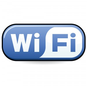 Image of WiFi Logo blue and white