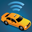image of a taxi emitting a wifi signal